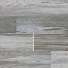 ina timber collection by msi stone ceramic tile 6x36 white