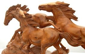 wild horse animal carving one of a kind horse carving