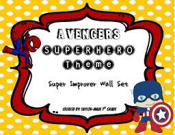 Avengers Chart Superhero Theme Behavior Chart Avengers