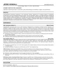 Construction Superintendent Resume Templates Free Construction  Superintendent Resume Example Templates