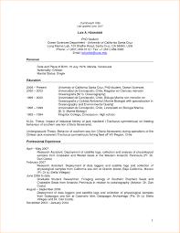 Sample Cv For Graduate Student Professional Resume Templates