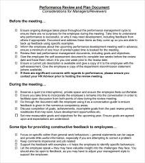 Performance Reviews Samples Performance Review Sample 7 Documents In Pdf Word