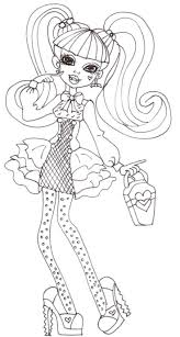 Sweet Draculaura Monster High Coloring Page