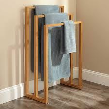 Wood towel bar Wooden Hand Cinthea Bamboo Towel Rack Signature Hardware Bathroom Beautiful Towel Bar Signature Hardware