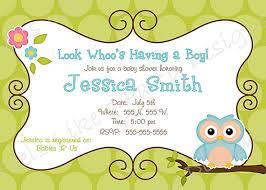 Printable Baby Boy Shower Invites  Invitations Baby Shower Owl Baby Shower Invitations For Boy