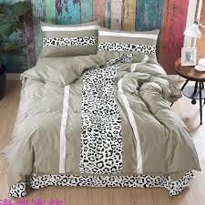 elegant y black white and light gray leopard print jungle safari animal themed twin full queen size bedding sets