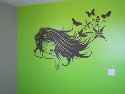 lime green wall art stickers