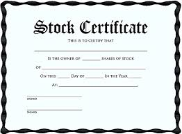 Stock Certificate Template Printable Stock Certificates Rome Fontanacountryinn Com