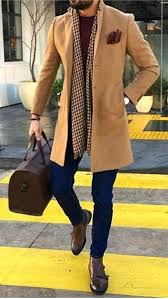 brown trench coat men trench coat outfit camel coat dark brown shoes scarf and doctor bag