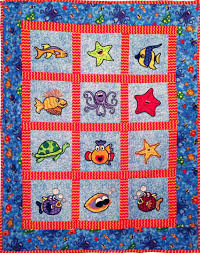 16 Quilts to Make For Kids | Blissfully Domestic & Under The Sea Quilt Adamdwight.com
