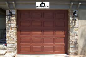 raised panel wood garage doors