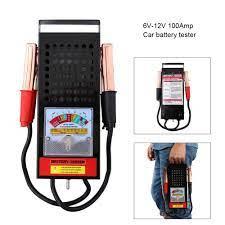 6 12V 100Amp El Araba pil test cihazı Yük Damla şarj sistemi Analizörü  Checker Aracı Van Oto Ekipmanları Gerilim Mater|Pil Test Cihazları