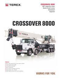 Crossover 8000 Terex Cranes Pdf Catalogs Technical