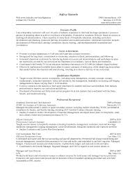 Objective Of Resume Examples For Sports Career Objectives In Manag