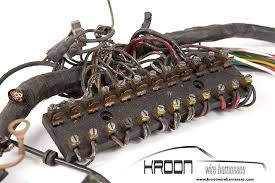 about that s where kroon wire harnesses comes to your assistance in our archive we have over 300 original looms from which we can make a new wire harness for
