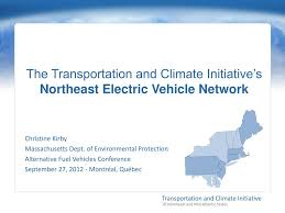 PPT - The Transportation and Climate Initiative's Northeast Electric  Vehicle Network PowerPoint Presentation - ID:3142662