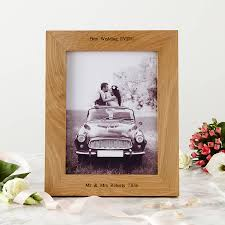 personalised oak wedding photo frame