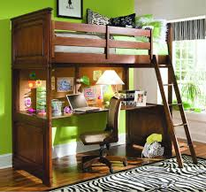 Image of: Wood Full Bunk Bed with Desk