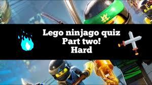 Lego ninjago quiz! Part two, harder! - YouTube