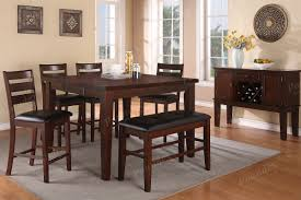 Drop Leaf Kitchen Table Sets Poundex 6 Piece Drop Leaf Dining Table Set With Dining Bench F2208 S6