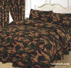 army camouflage duvet cover set