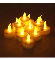 24 Adet Sarı Titrek ışık Led Mum