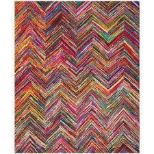 nantucket pink multi 8 ft x 10 ft area rug