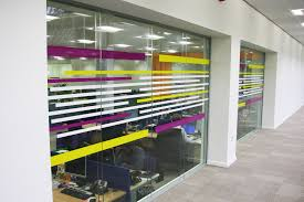 office glass partition design. Printed Glass Partition Office Design