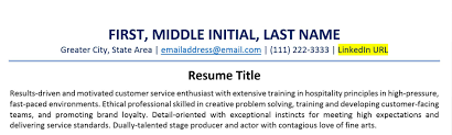 How To Include A Linkedin Url On Your Resume Examples Zipjob