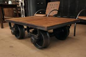 top 53 out of this world industrial antique factory cart coffee tables toronto table hardware caster set wagon style kidney station base only rustic condo
