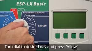 Rain Bird Esp Lx Programming Chart Esp Lx Basic Controller Rain Bird