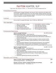 ... Inspiring Design Slp Resume Examples 13 Best Speech Language Pathologist  Resume Example ...