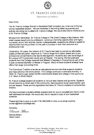 College Recruitment Letter Stunning Letter Letter To College