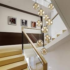 staircase pendant light penthouse floor modern simpl european style villa rotation in the building of crystal lamps hanging lights staircase hanging lights t92