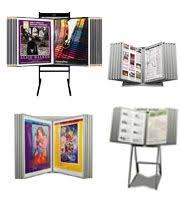 Multiple Poster Display Stands Poster Display Racks with Multi Panels Storage Movie Poster 16