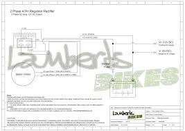 regulator rectifier lamberts bikes 2 phase 4 pin regulator rectifier wiring diagram