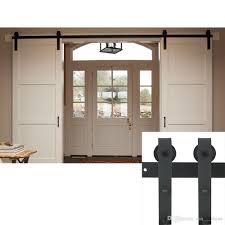2018 6 6ft clsic design double sliding barn door j shape hangers hardware steel hanger track kit for inside or outside door from sun shine