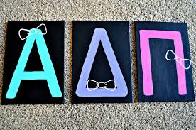 alpha delta pi letters painted canvas adpi craft bows but phi mu