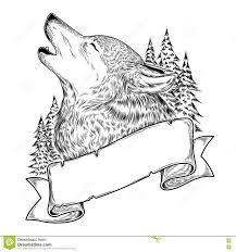 25 Printen Huilende Wolf Tekenen Mandala Kleurplaat Voor Kinderen