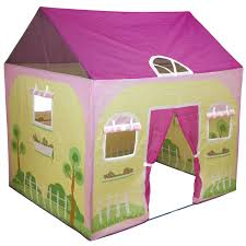 Charming Green Purple Play Tent For Kids With Outdoor Garden Theme
