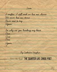 the quarter life crisis poet catherine vaughan s world qlc poem 2am pt2