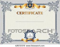 Clipart Coupon Template Clip Art Of Certificate Or Coupon Template K26737219 Search