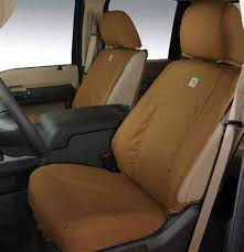 carhartt seat covers by covercraft brown 60 40 supercrew rear seat without armrest
