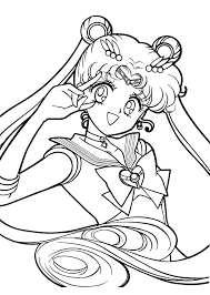 Small Picture Sailor Moon Coloring Page sailormoon Crystal Tokyo