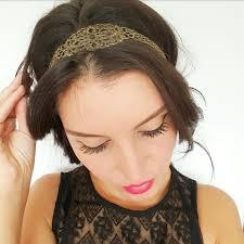Nouveau Headband Bijou De T Te Fleur Et Cha Nes Bronze Boh Me