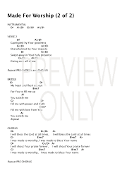 Made For Worship Lead Sheet Lyrics Chords Iworship