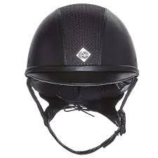 Charles Owen Ayr8 Leather Look Riding Helmet Show Jumping Dressage Hunter