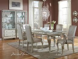 Michael Amini Living Room Furniture Aico Hollywood Loft Frost Dining Set 9001600 104