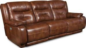 Southern Motion Crescent Leather Power Reclining Sofa
