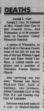 William Logan Carr Ester Smith Carr Horn Timothy Guy Carr - Newspapers.com